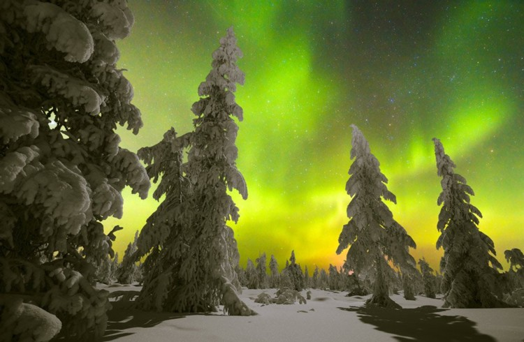Aurora Boreale nel Nord della Finlandia